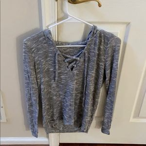 gray lightweight sweater
